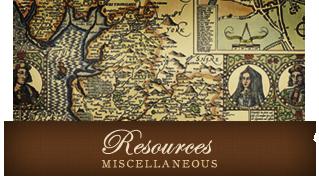 Resources - Misc